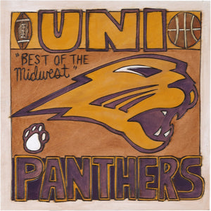 "University of Northern Iowa 10""x10"" Plaque –  Follow you heart elegant color palette plaque"