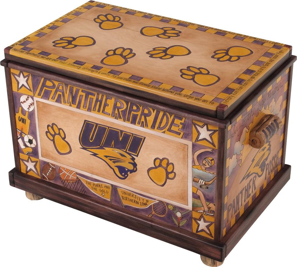Sticks handmade University of Northern Iowa chest