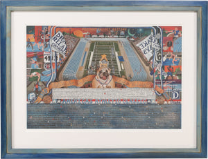 Framed WWLA Drake Relays Lithograph –  This framed litho celebrates what we love about the Drake Relays