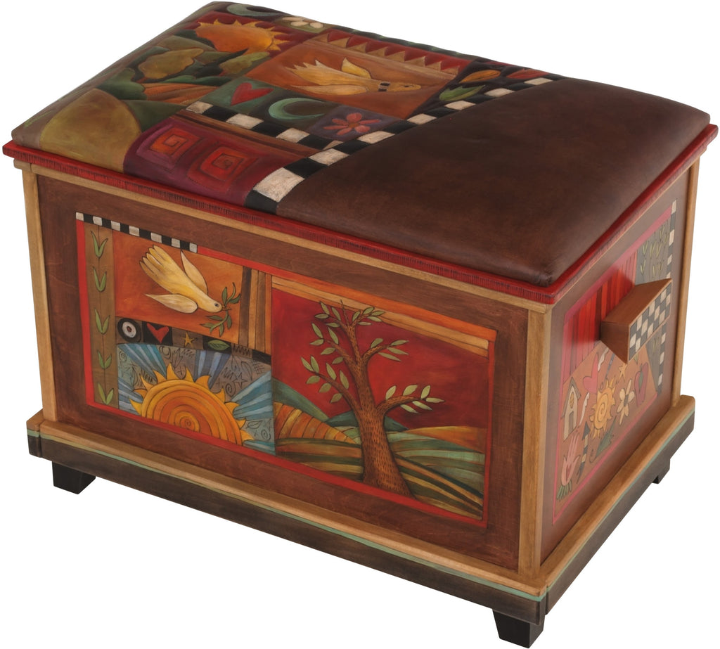 Sticks handmade chest with leater top