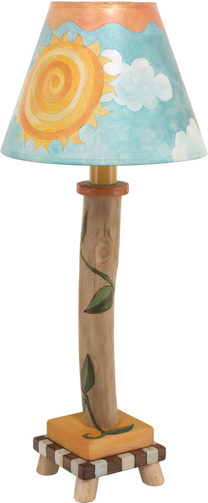 Log Candlestick Lamp –  Pretty day and night themed shade, perfect for a bedside table