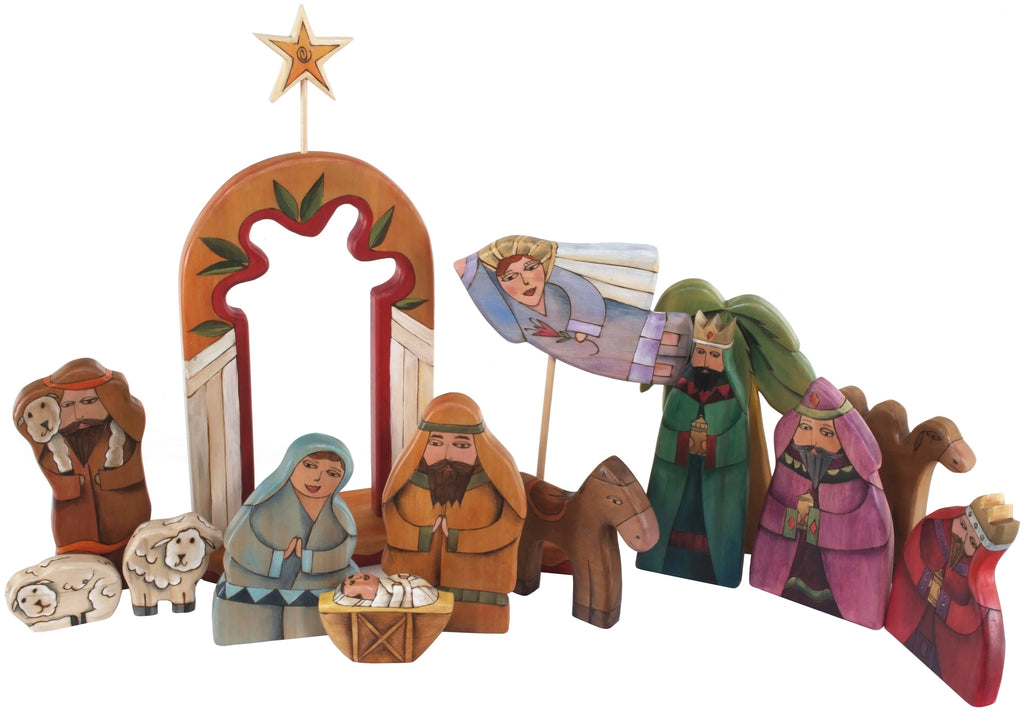 Large Nativity –  Large Nativity with orange accents