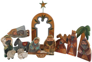 Large Nativity –  Large Nativity with yellow accents