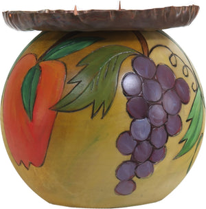 Ball Candle Holder –  Beautiful candle base with fruiting motifs