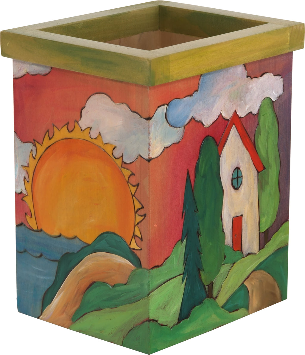Vase/Utensil Box – Cute and colorful landscape box design