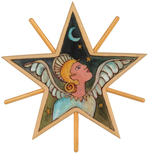 Tree Star –  Beautiful blue and gold hued Holy Angel star motif