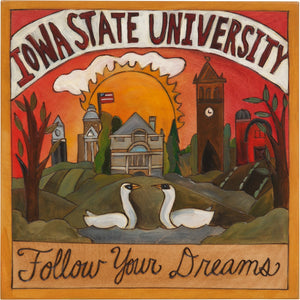 "Iowa State 10""x10"" Plaque –  ""Follow Your Dreams"" collegiate plaque honoring Iowa State University"