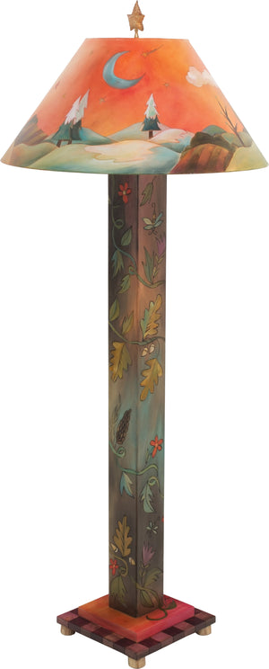 Box Floor Lamp –  Beautiful four seasons floor lamp featuring floral and vine motifs