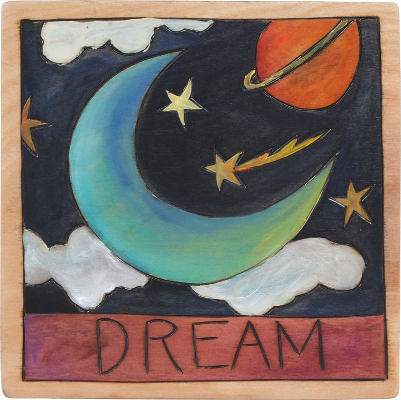 "7""x7"" Plaque –  ""Dream"" night sky design"
