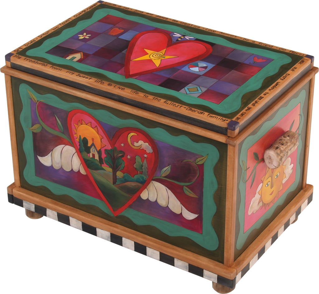 Chest –  Love themed chest with sun, moon and heart motif