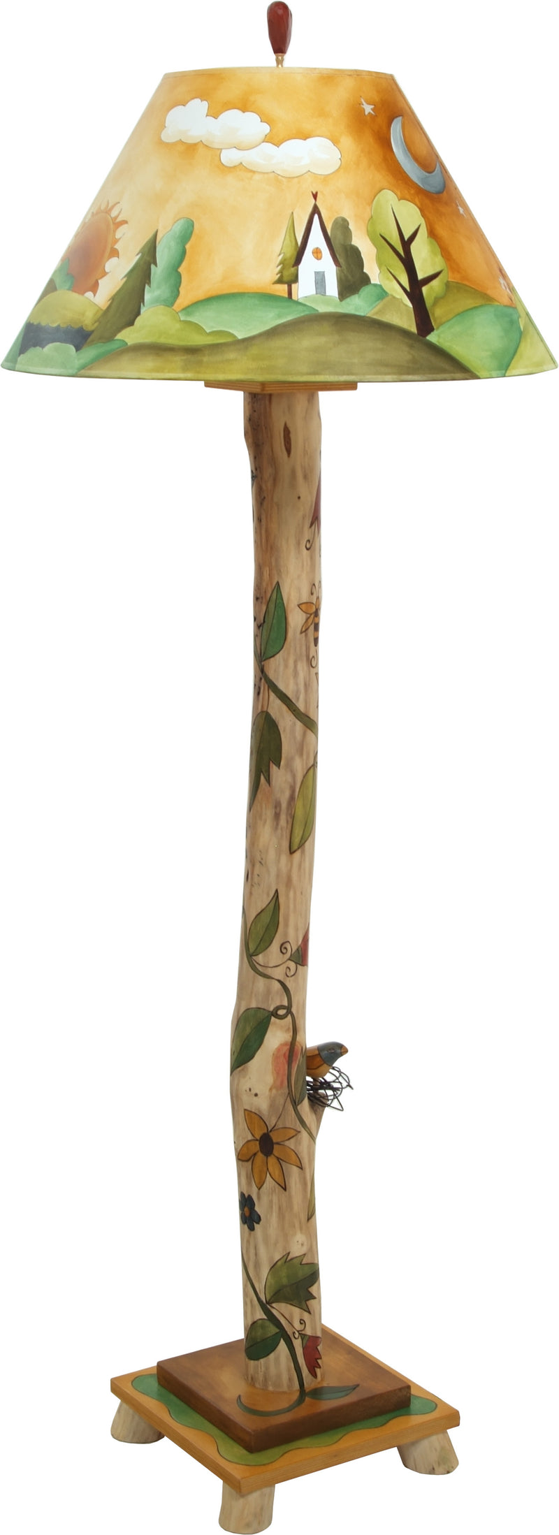 Log Floor Lamp