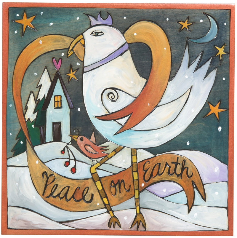"10""x10"" Plaque –  ""Peace on Earth"" holiday plaque"