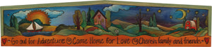 Door Topper –  Brightly colored farm landscape motif