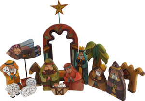 Large Nativity –  Large Nativity with red accents