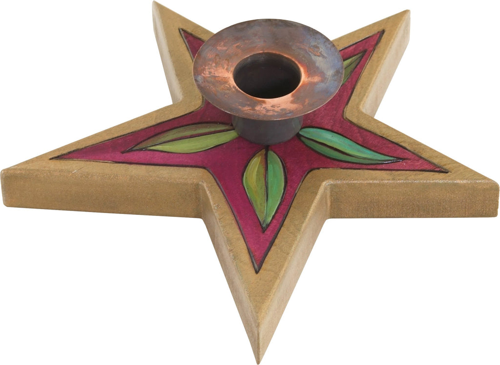 Star-Shaped Candle Holder –  Handsome star-shaped candle holder