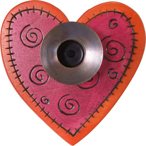 Heart-Shaped Candle Holder –  Lovely little heart-shaped candle holder