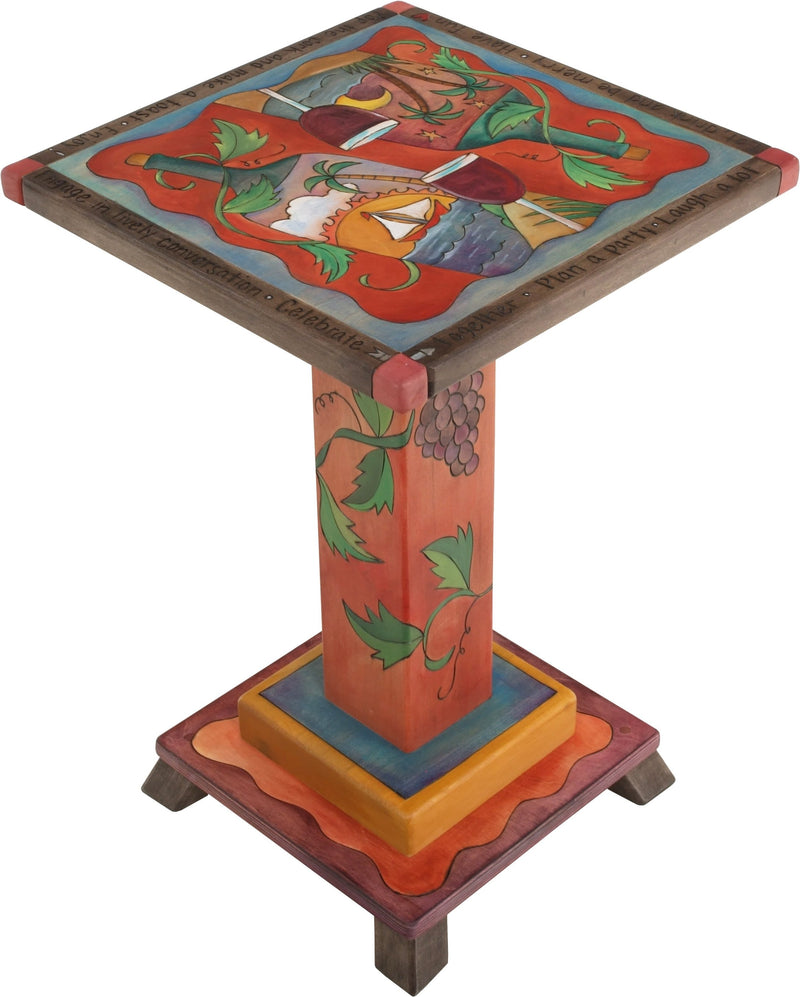 Martini End Table –  Festive and fun martini table with beach motifs