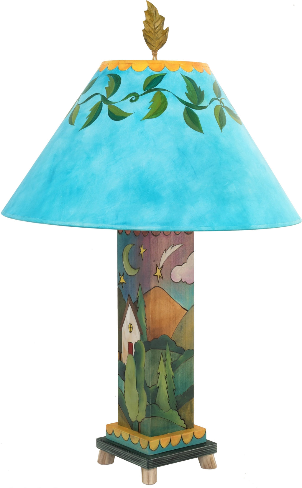 Box Table Lamp –  Landscape themed colorful and contemporary table lamp