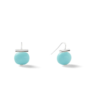 Sterling Medium Pebble Pearl Earrings in Turquoise – Catherine Canino's most universal size and it's Catherine's personal fave, the stone shown here is a gorgeous turquoise