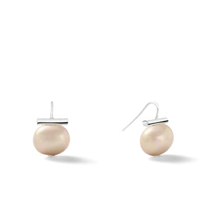 Sterling Medium Pebble Pearl Earrings in Taupe – Catherine Canino's most universal size and it's Catherine's personal fave, this option shows a classic tan color stone