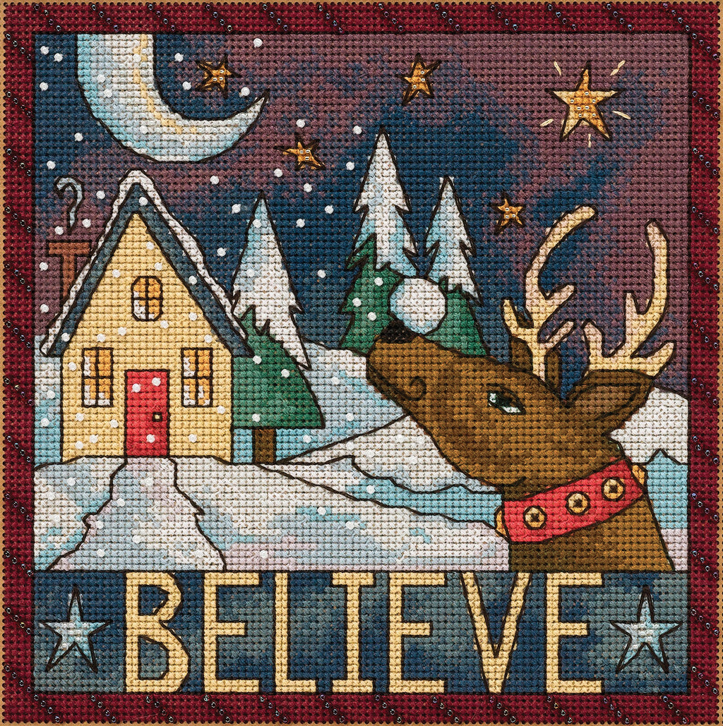 """Believe"" with Santa's reindeer in a winter-y wonderland"