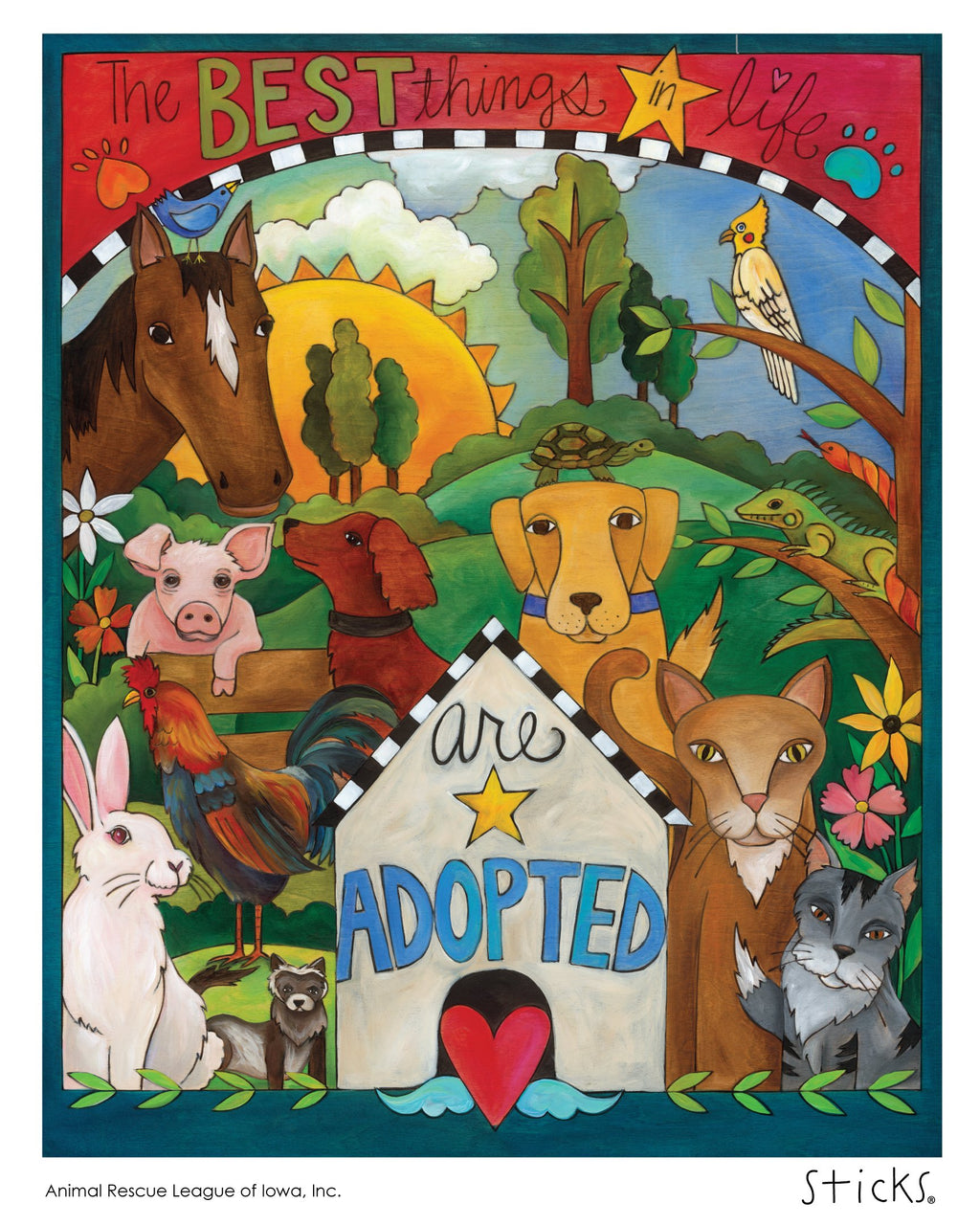 Iowa ARL Poster –  The best things in life are adopted