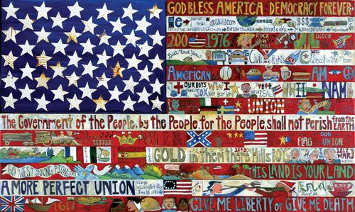 American Flag Poster –  Large poster with American motifs to honor the United States