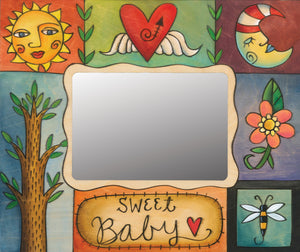 """Sweet Baby"" Picture Frame – Colorful and eclectic artisan printed picture frame, ""Sweet Baby"" front view"