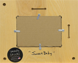 """Sweet Baby"" Picture Frame – Colorful and eclectic artisan printed picture frame, ""Sweet Baby"" back view"
