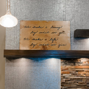 "We Make a Living Wall Art – ""We make a living by what we get. We make a life by what we give."" Sir Winston Churchill's insightful phrase is perfectly captured on this wall art and would make a handsome addition to an office or home"
