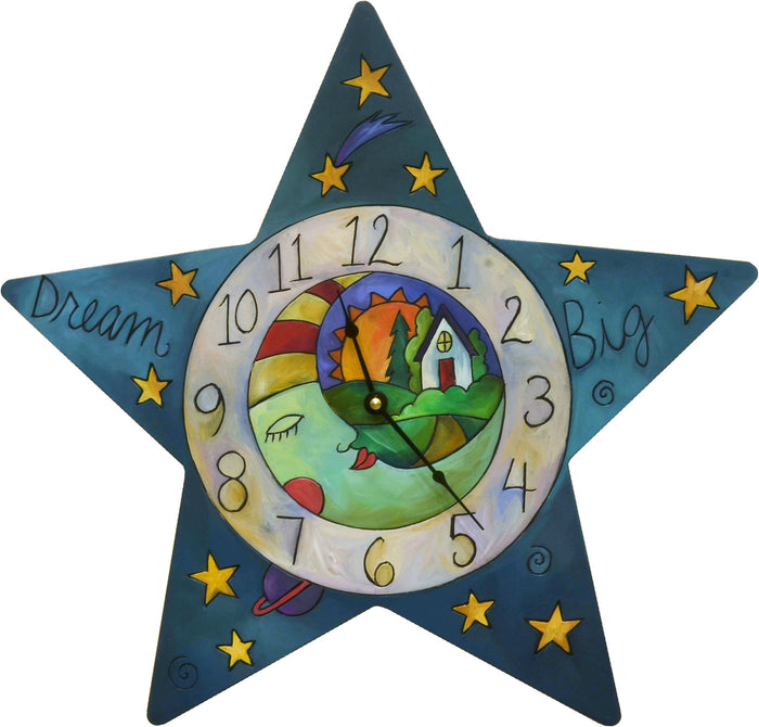 """Who Hung the Moon"" Star Clock"
