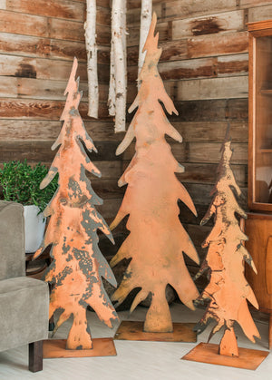 Tall Pencil Tree Sculpture – These showstopper tree sculptures would look perfect alone or grouped at your front door, within your landscaping, near the fireplace, or as a Christmas card display during the holidays - so versatile! main view