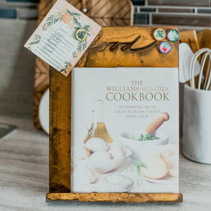 Cookbook Holder - Keep your tablet, cookbooks, and recipe cards mess free with this beautiful stand