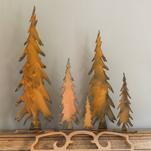Pencil Tree Sculpture – Tall, thin pine tree sculptures that look best as a grouping but a single one will still look great with other mementos you have at home main view
