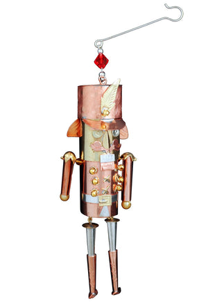 Nutcracker Ornament – Handsome little sculptural nutcracker toy soldier ornament