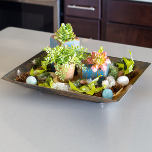 Small Tray – A sweet little accent tray to hold a grouping of decorations or in the kitchen to hold miscellaneous like salt, pepper, and napkins main view
