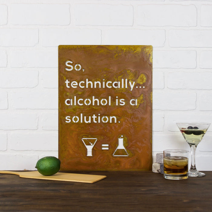 Alcohol is a Solution Wall Plaque
