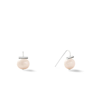 Sterling Baby Pebble Pearl Earrings in Soft Grey – Petite, scaled down versions of Catherine Canino's most popular design with a light grey stone and sterling silver, option for sterling silver/opal combo