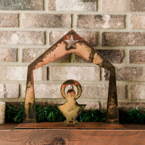 Small Nativity Sculpture – Stable and manger scene is perfect to display alone or add stars for a one-of-a-kind nativity set main view