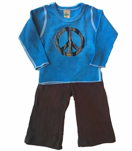 Baby Camo Peace SIgn Pant Set