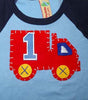Fire Truck Birthday Shirt