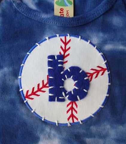 Baseball with Initial Onesie