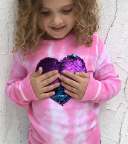 Sequin Changing Heart Shirt