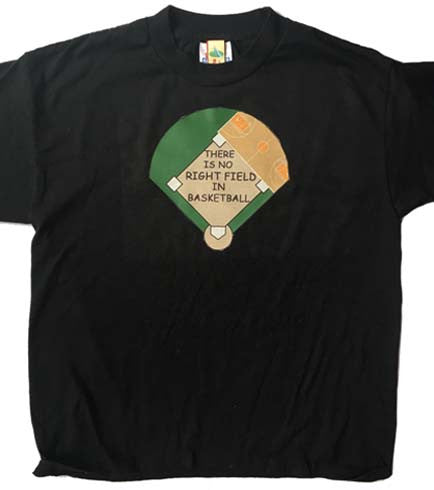 No Right Field in Basketball Tee
