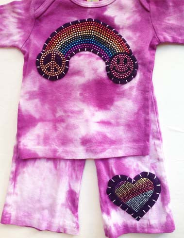 Rainbow and Heart Bling Outfit