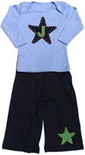 Star Baby Lap Tee with Initial Pant Set