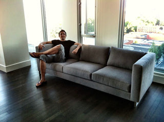 Custom Modern Couch with Metal Legs