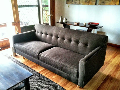 The Sterling: One Mid-century Style Sofa, Three Ways