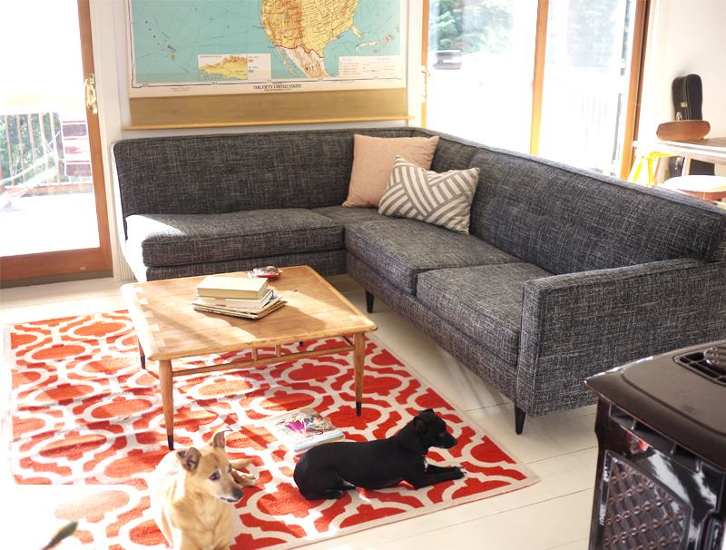 Custom one arm sterling sofa from Perch Furniture