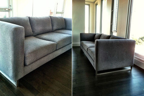 Bon The Modern Frame Fits In Perfectly With The Clean Aesthetic Of Their  Apartment. This Is A Tuxedo Style Couch, Which Means The Arms And Back Are  The Same ...